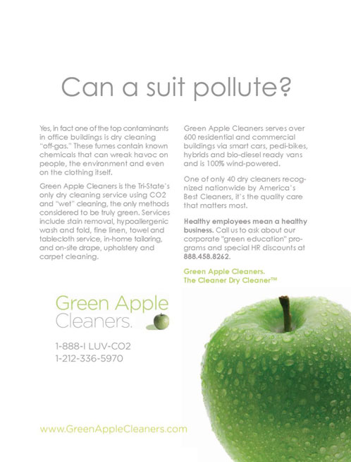Green Apple Cleaners Ad